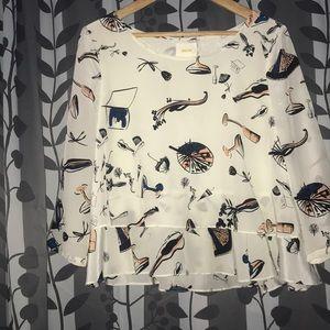Anthro silk blouse sz 8
